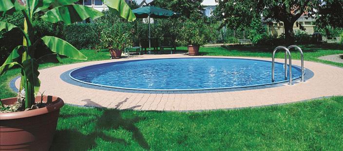 Das rundbecken como rundpool schwimmbeckensysteme for Kunststoff pool rund