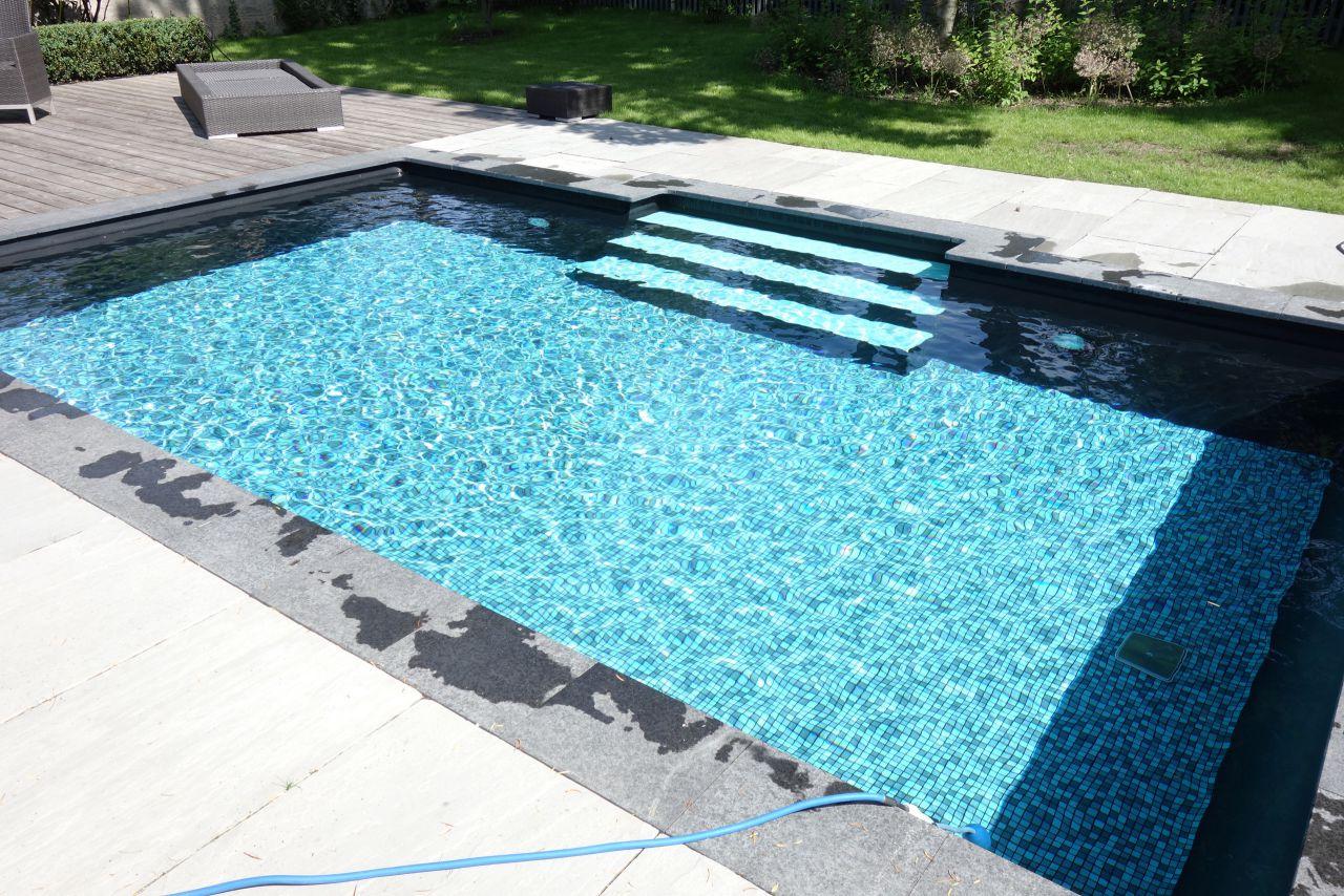 Rechteck Pool 3 5x6x1 15m Mit Gerader Treppe Fkb Schwimmbadtechnik