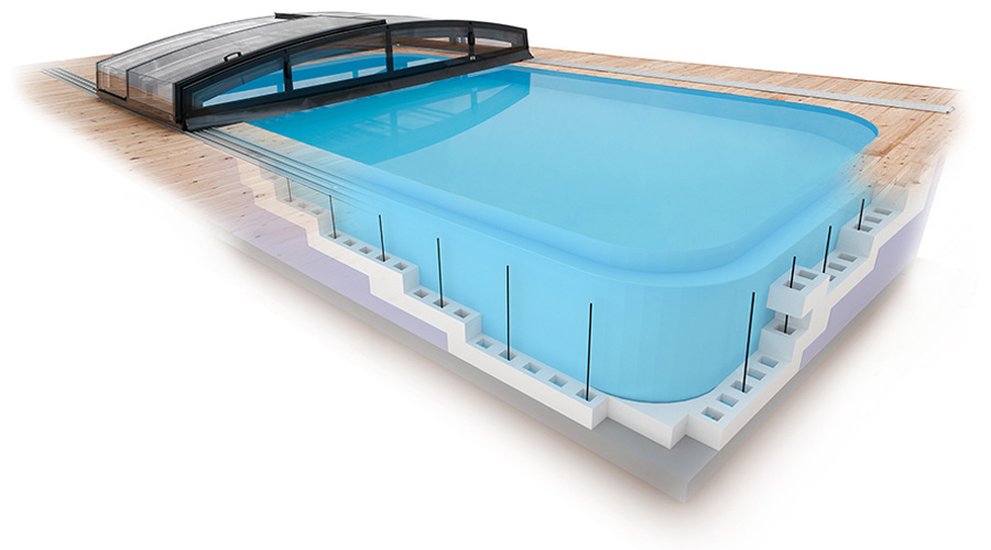 quattro g2 qbig 3 5x7 m albistone schwimmbecken. Black Bedroom Furniture Sets. Home Design Ideas