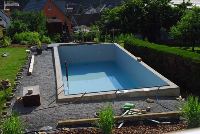 Rechteck Pool 3 8x8 0x1 65m Mit Edelstahlleiter Fkb Schwimmbadtechnik