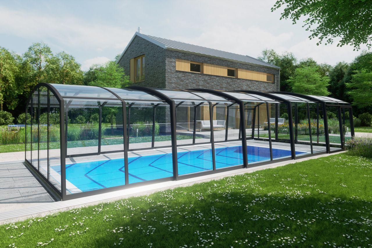 Albixon Casablanca Infinity Plus Schwimmbeckenüberdachung Clear