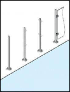 Fkb Schwimmbadtechnik seilpfosten mit einer seilöse montage in einbauhalterung fkb