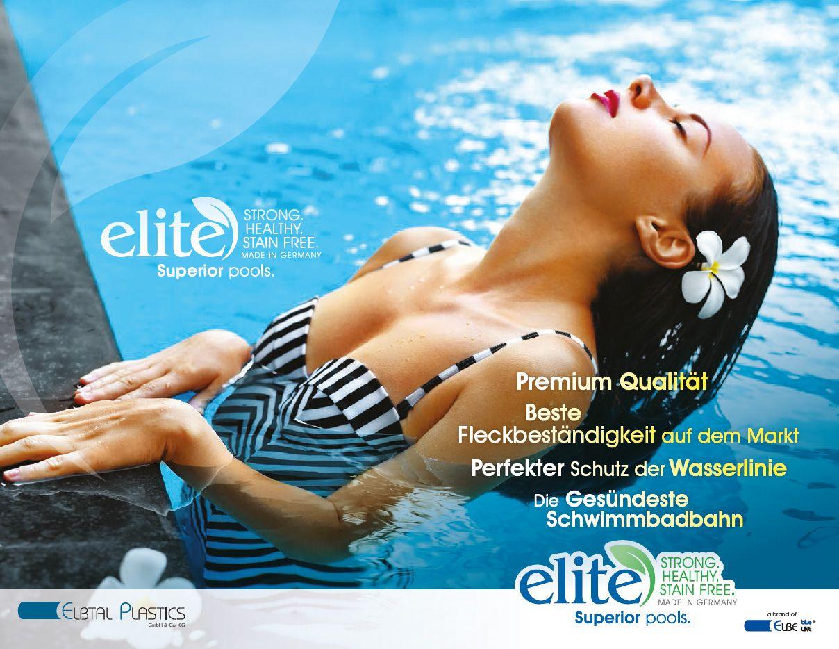 ELBE Blueline ELITE Schwimmbadfolie Rolle 1,65 x 25 m