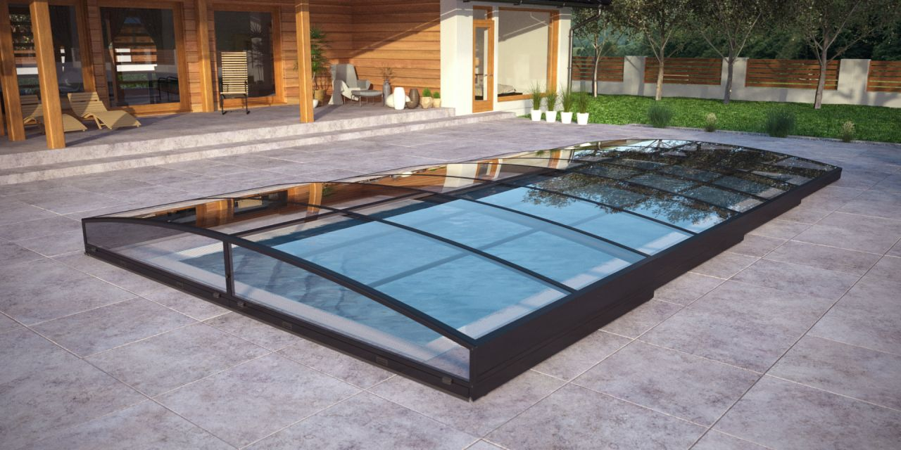 Albixon Pool-Überdachung Sydney Clear B