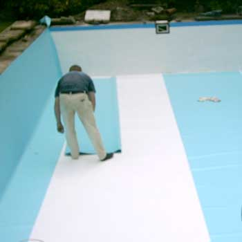 Folie verlegung folieauskleidung schwimmbad fkb for Folie schwimmbad