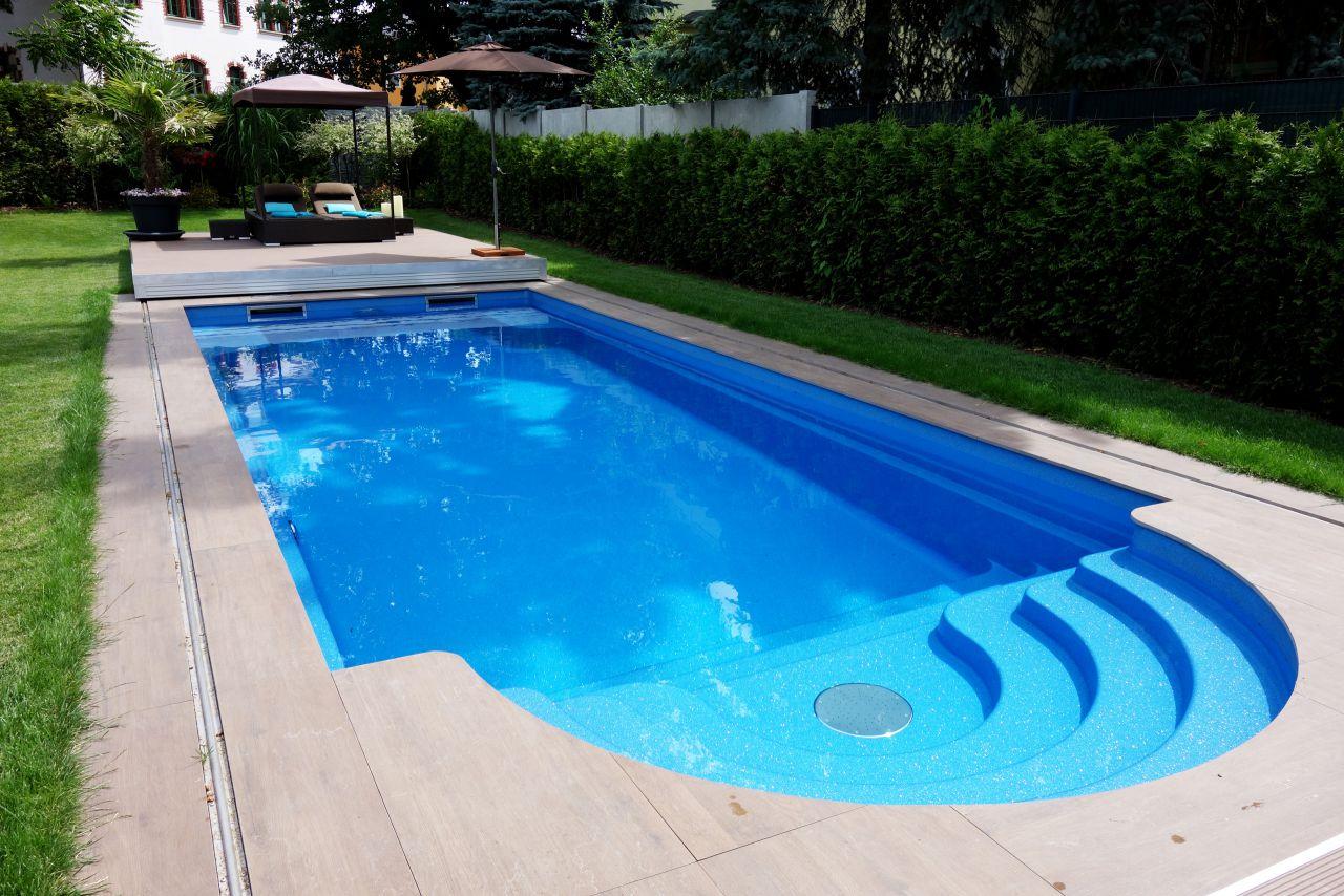 Compass Pool Schwimmbecken Java 101 mit Terrassenabdeckung