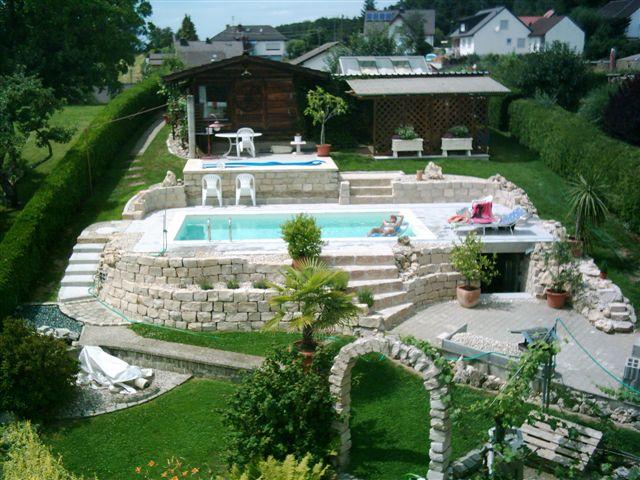 Schwimmbecken 3 5x7 0x1 5 m liner sand fkb schwimmbadtechnik - Pool selber betonieren ...