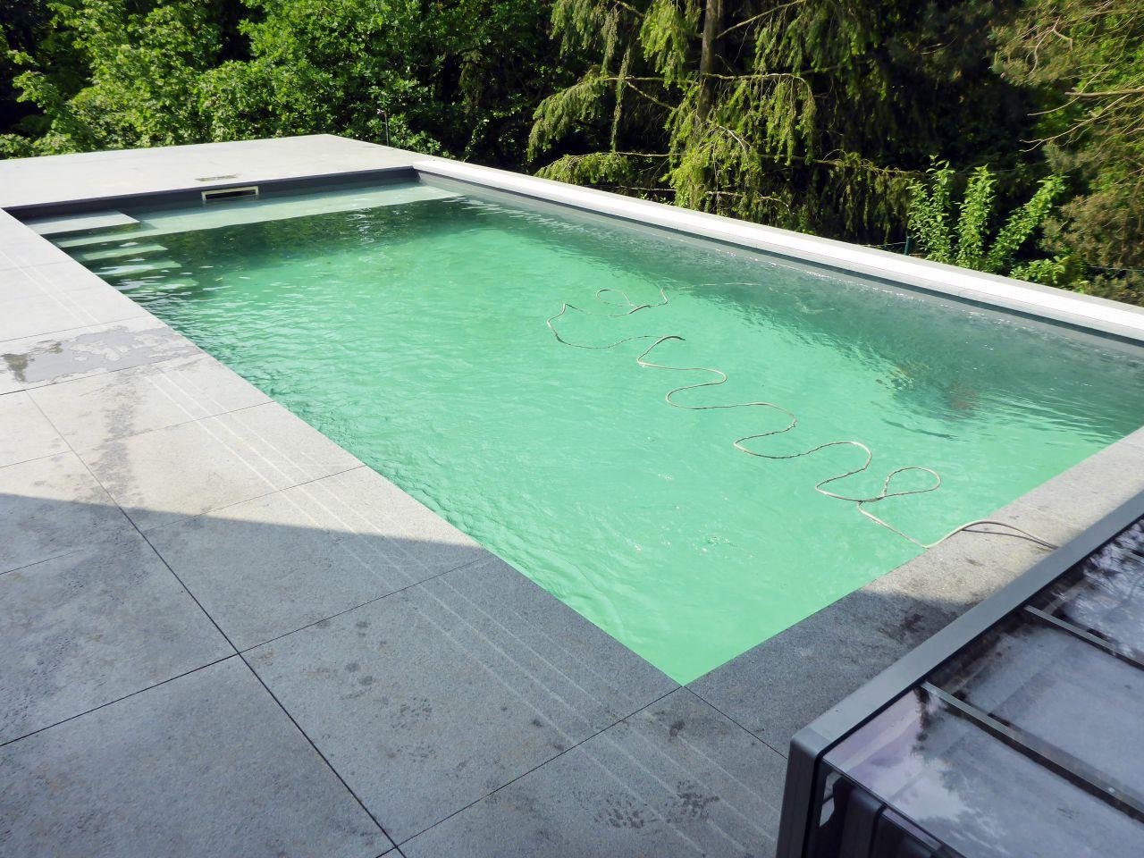Schwimmbad 4x8x1 5m Mit Ecktreppe Podest Und Pool Uberdachung