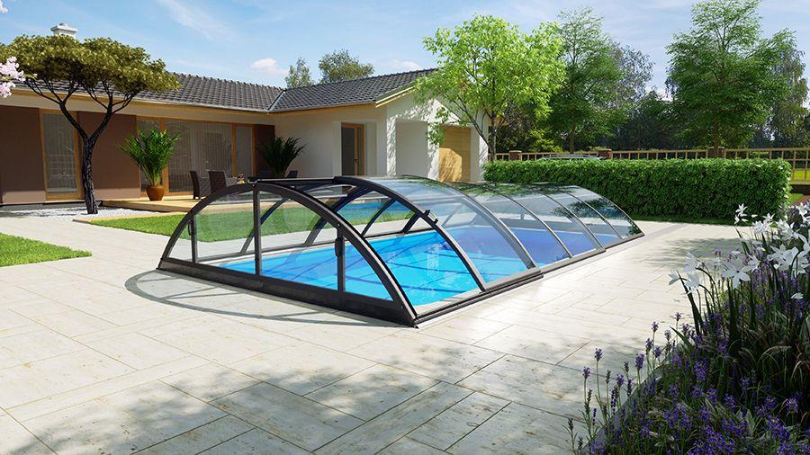 Pool Uberdachung Klasik Clear A Fkb Schwimmbadtechnik