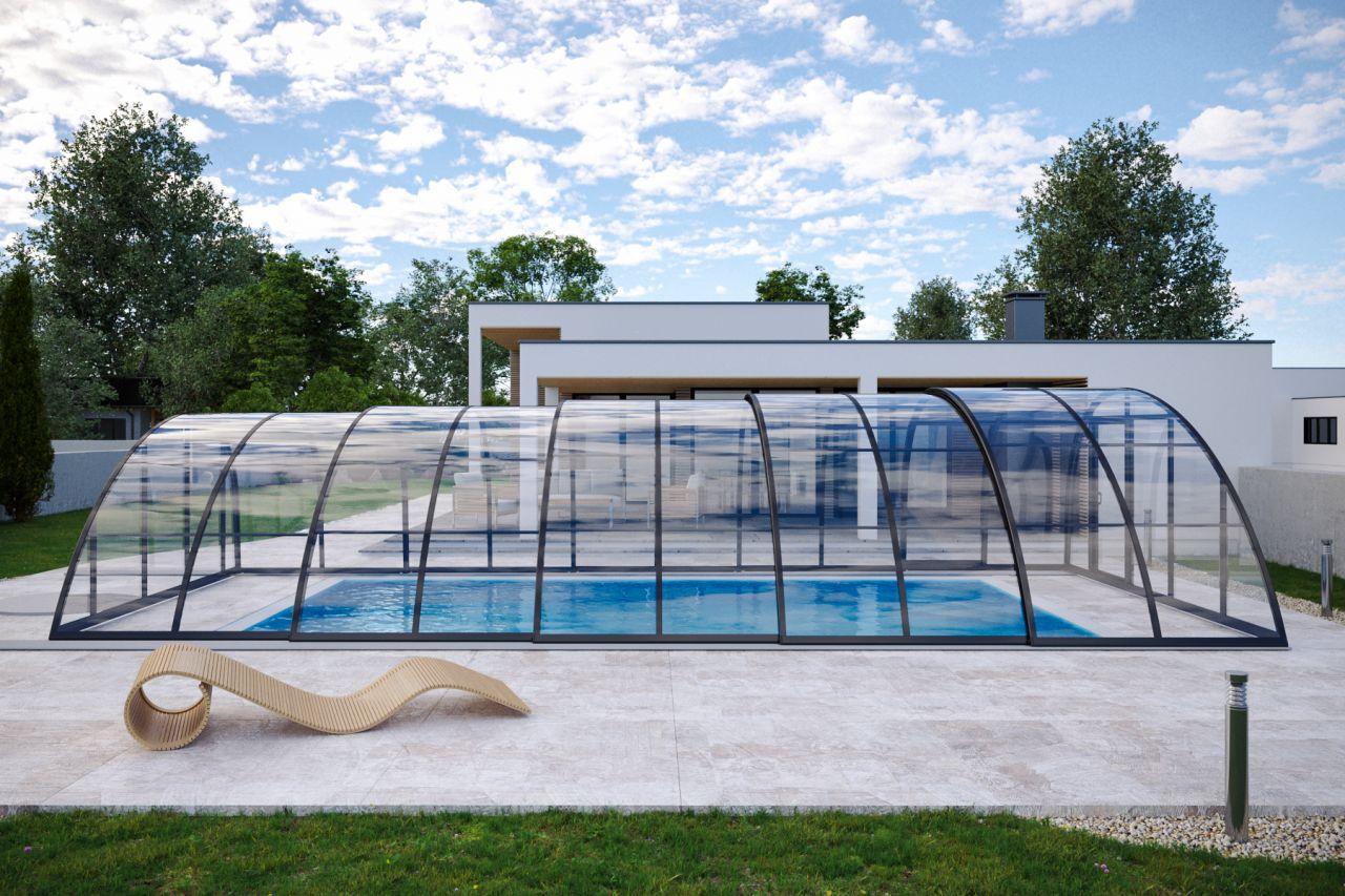 Albixon Monaco Future Poolüberdachung Clear
