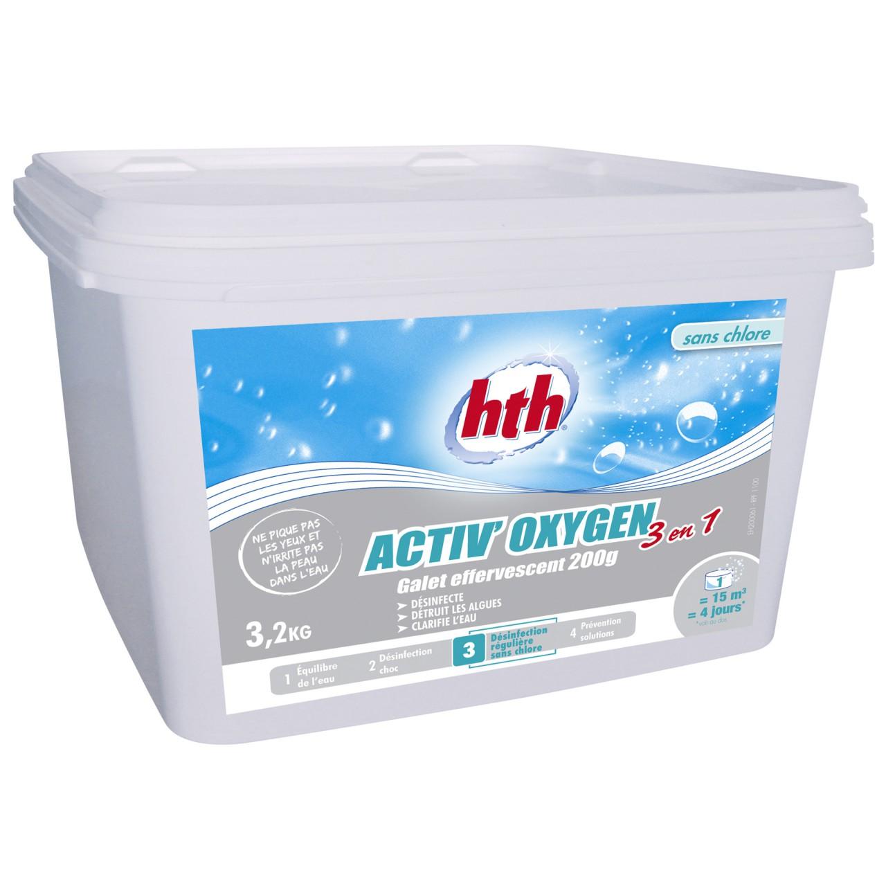 HTH Oxygen 3 in 1 Aktivsauerstoff Desinfektion 3,2kg