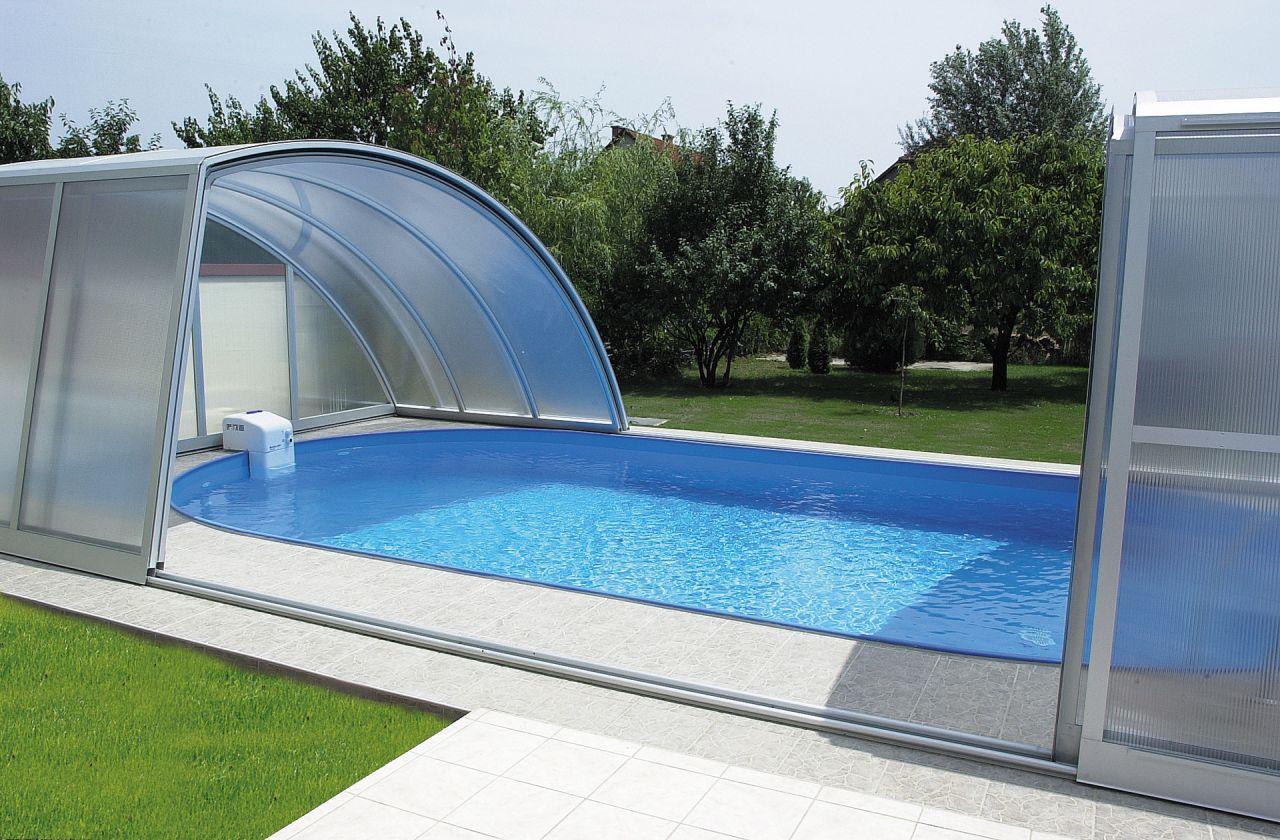 Aquacomet Practic Schwimmbad Schiebehalle