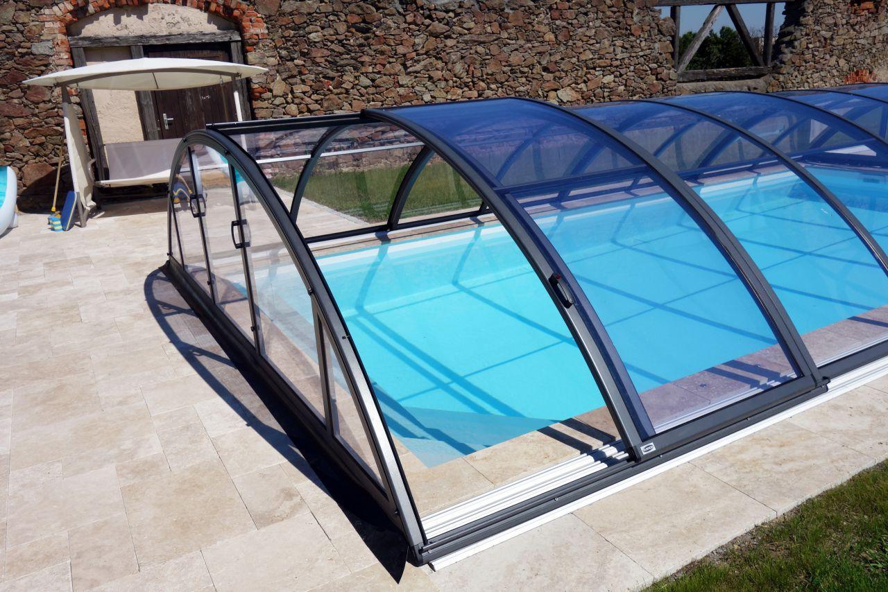 Schwimmbecken-Überdachung Klasik Clear B