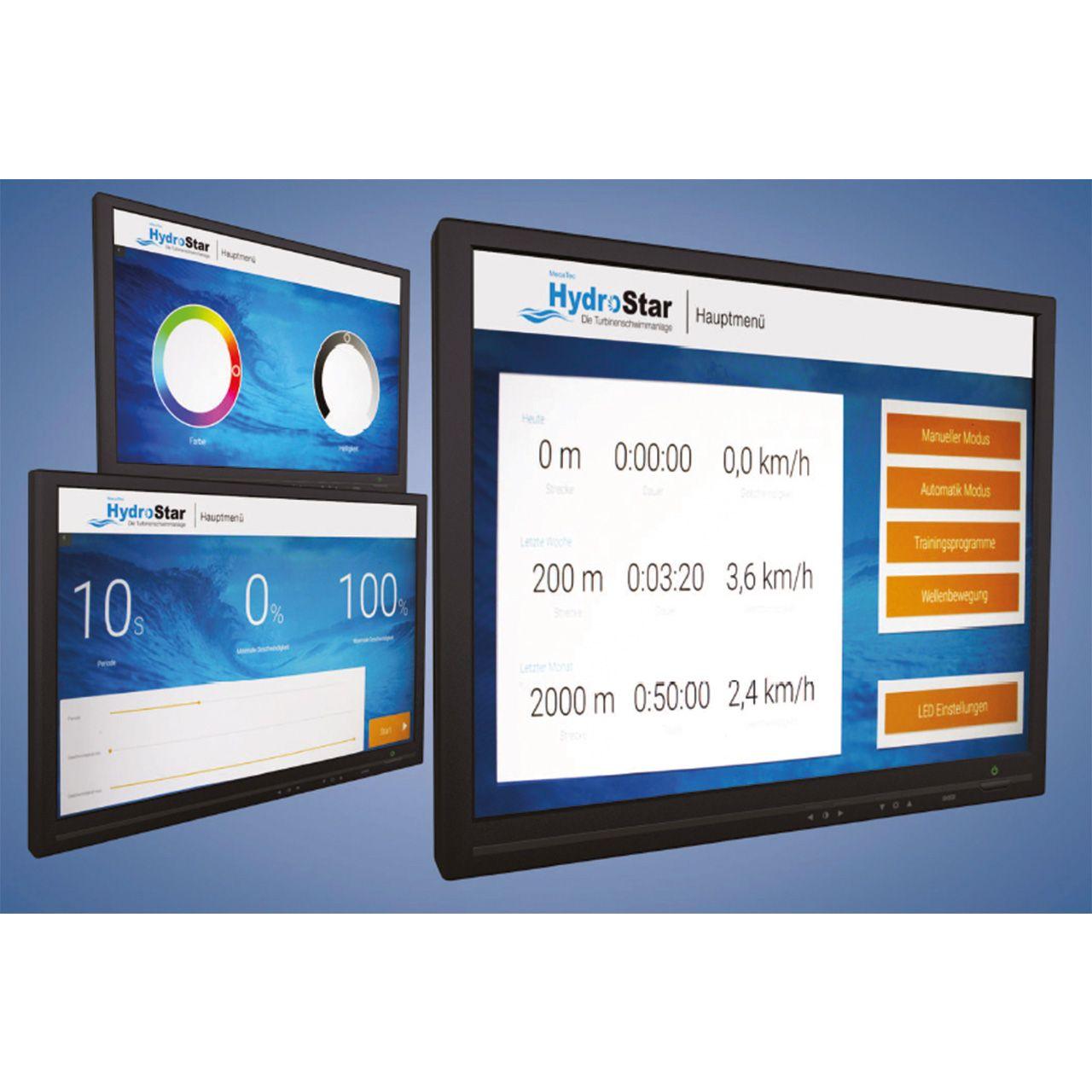 Binder Touch Display für Steuerung der Strömungsturbine