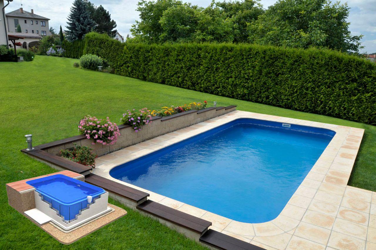 Polypropylen pool g2 komplettset mit schwimmbecken und for Schwimmbad gegenstromanlage