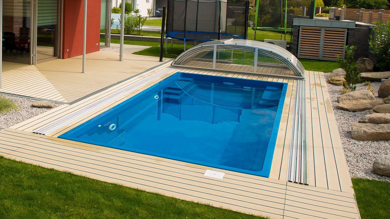 Pool-Überdachung Dresden Clear 3