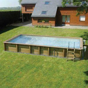Holzpool schwimmbecken odyssea 850 fkb schwimmbadtechnik for Rundpool versenkt