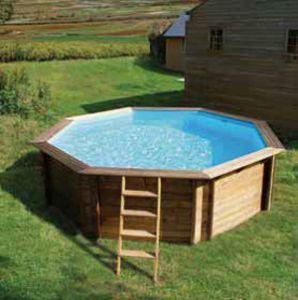 Weva achteck holzpool octo plus 640 fkb schwimmbadtechnik for Garten pool komplettset