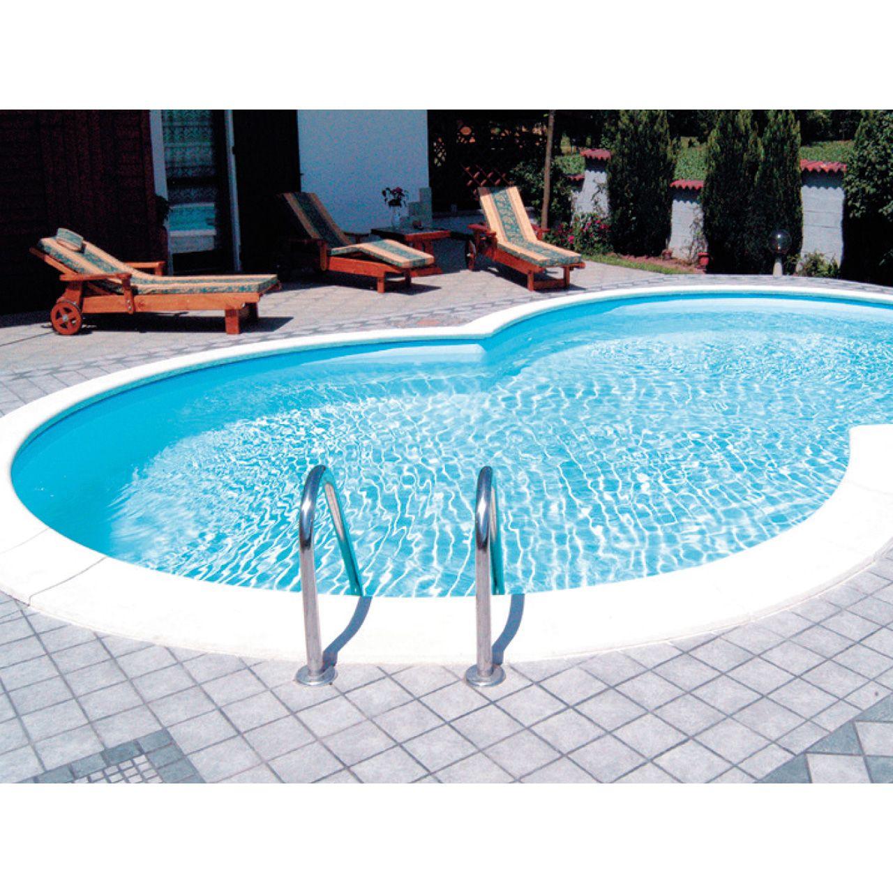 Achtformbecken Sunny Pool Adriablau